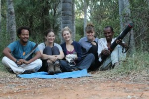Eleanor and her research team in Madagascar.