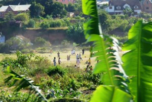 Soccer game in Madagascar. Photo credit: Haley Gilles