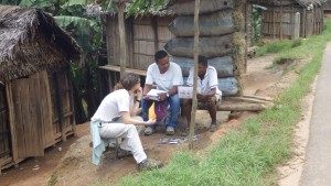 Collecting data in Madagascar.