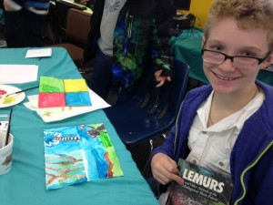 Students read books about lemurs, made lemur artwork, and more.