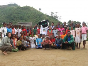 Madagasikara Voakajy schoolchildren at manakana Est
