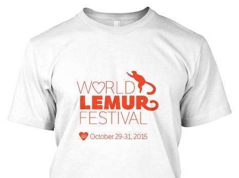 Buy a World Lemur Festival tshirt or sweatshirt!