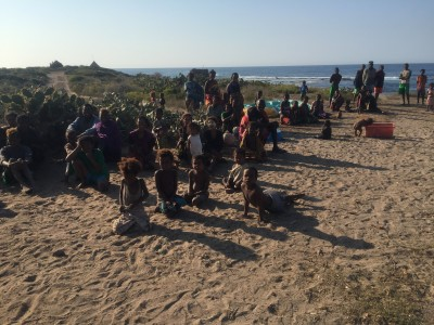 A local community along the coast of Madagascar. Photo by Ash Dykes.