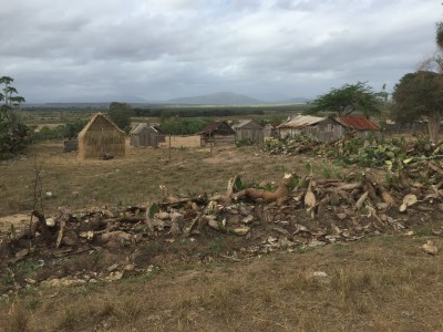 Malagasy village in southern Madagascar. Photo by Ash Dykes.