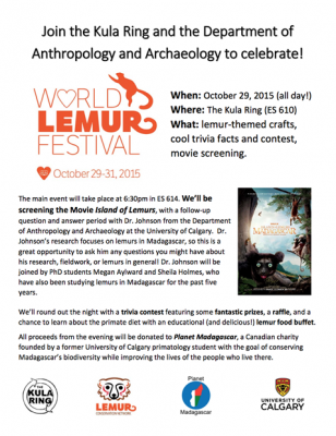 Celebrate the World Lemur Festival at the University of Calgary!