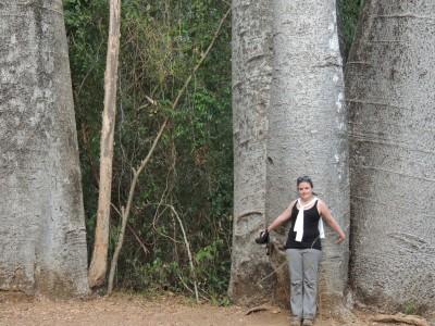 The author Lynne Venart on her first trip to Madagascar in 2012. Photo taken by Christine Venart in Ankarafantsika National Park.