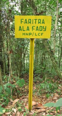A boundary sign marking the edge of ASSR.
