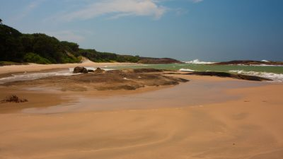 The beautiful beach at Sainte Luce Reserve in Madagascar.
