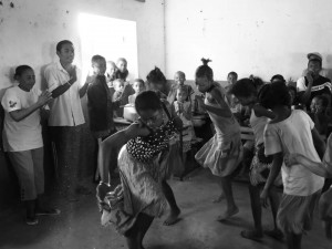 Dancing in Madagascar.