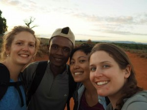 Eleanor (left) with her research team in Madagascar.