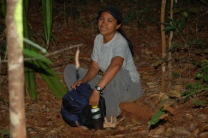 Dr. Sylviane Volampeno undertaking field work in Madagascar.