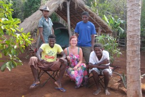 Melanie Seiler Me and guides in the camp