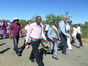 World Environment Day parade with local authorities.
