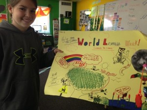 The students made posters from World Lemur Week.