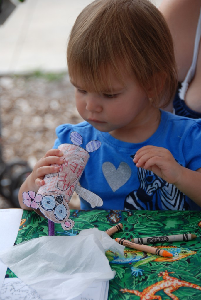 Lemur crafts for kids at the Central Florida Zoo's Lemur Conservation Day. Photo by Corey Romberg.