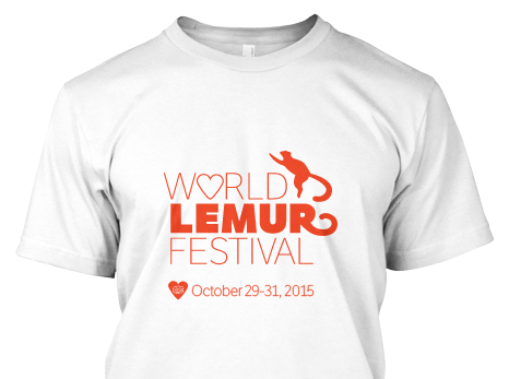 Buy a World Lemur Festival tshirt or sweatshirt!