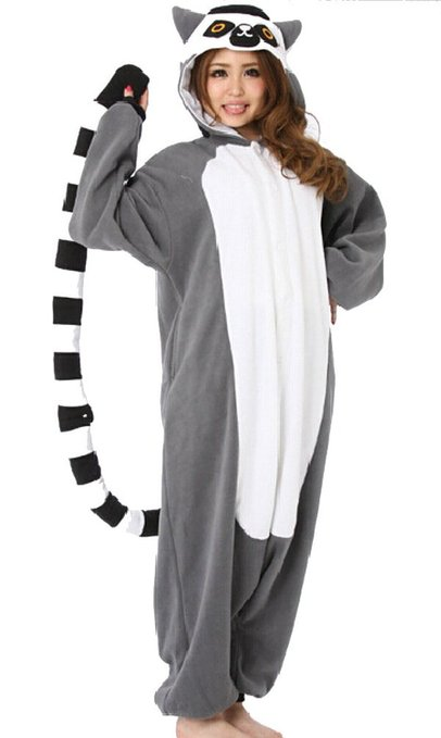 Wear a lemur costume to your event, or just wear it all day at work! :) Photo via Amazon.