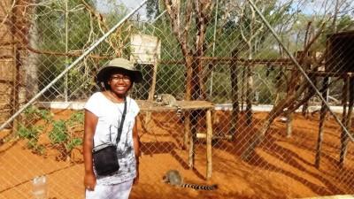 Seheno at the Lemur Rescue Center.