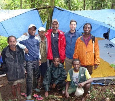 Dr. Erik Patel (2nd from right, top row) and his team in ASSR, Madagascar.