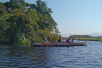 Sainte Luce is so remote you have to take a pirogue to get there!